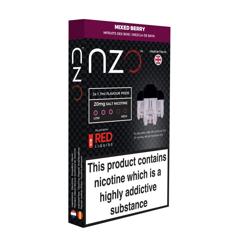NZO Mixed Berry Pods (3 Pack)