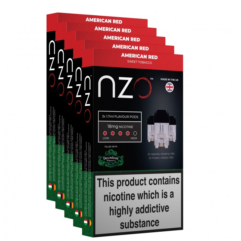NZO Decadent American Red Pods (5 Boxes)