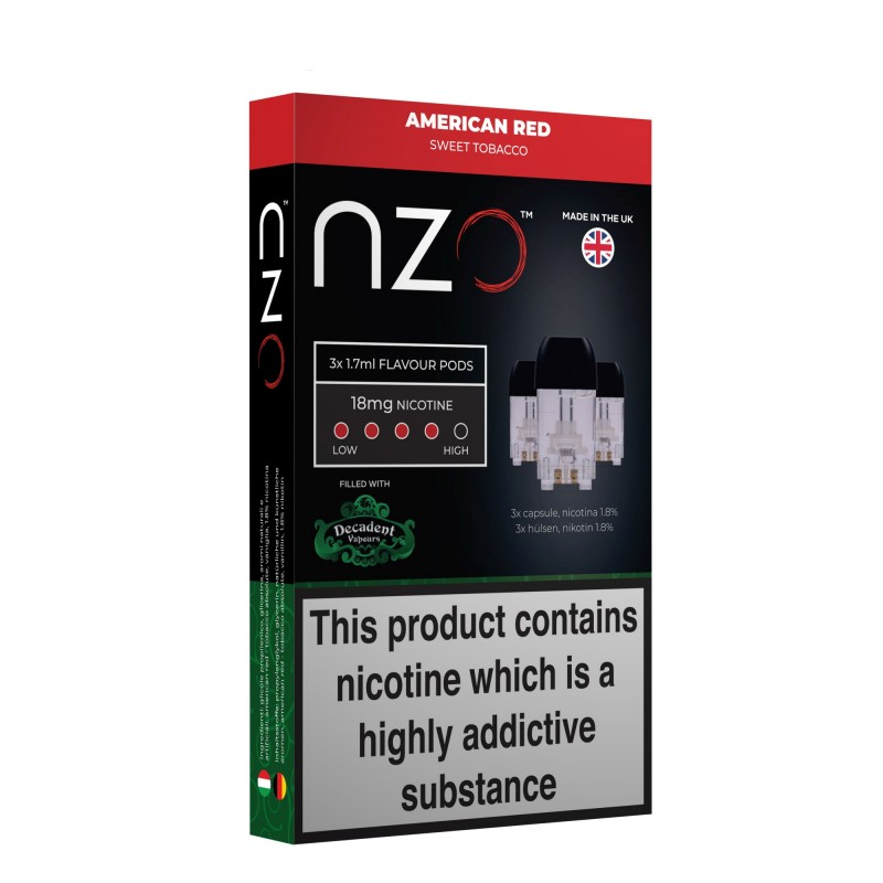NZO Decadent American Red Pods (3 Pack)