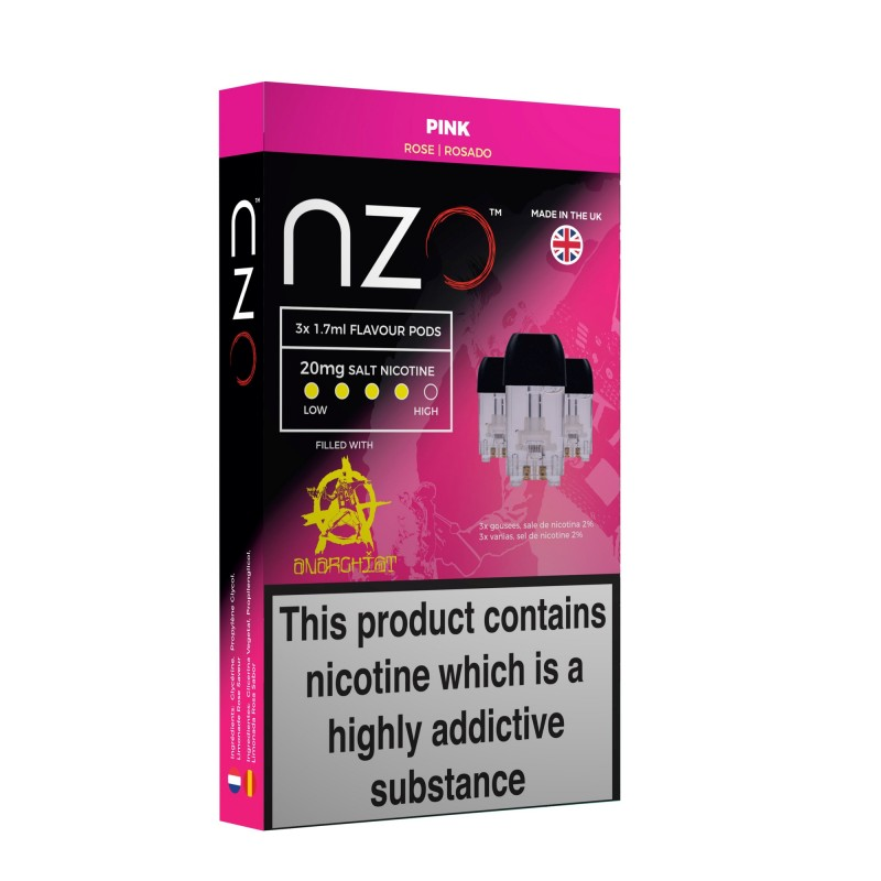 NZO Anarchist Pink Pods (3 Pack)