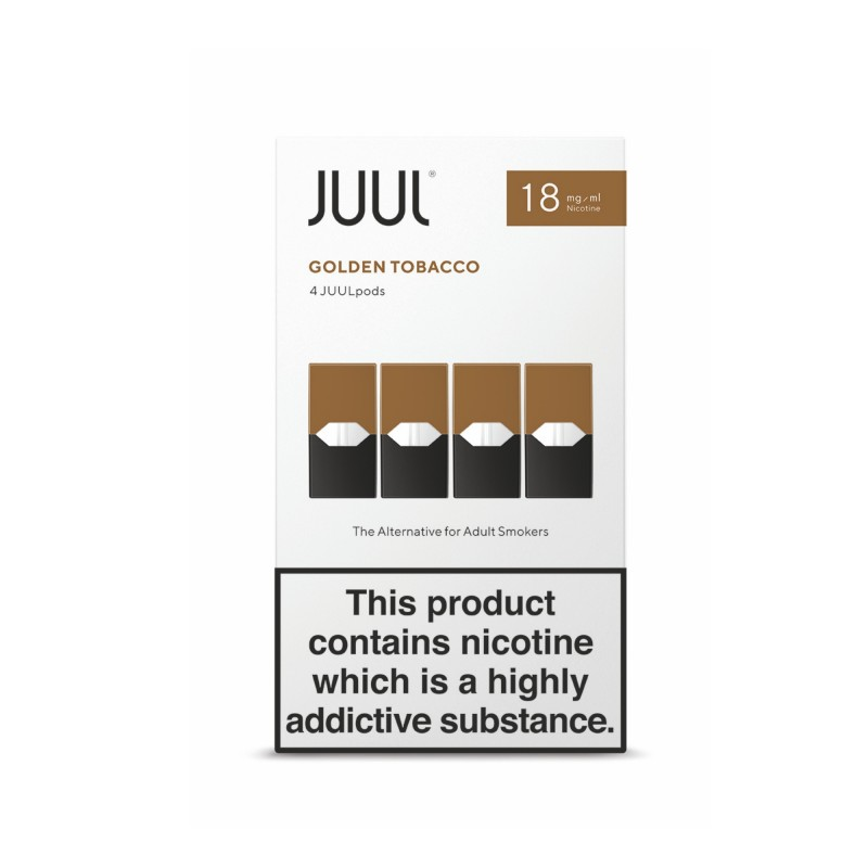 JUUL Pods - Golden Tobacco (8 Boxes)